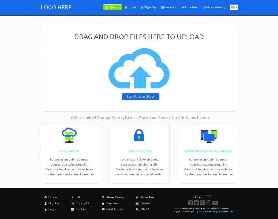 xFileSharing Responsive Beautiful theme