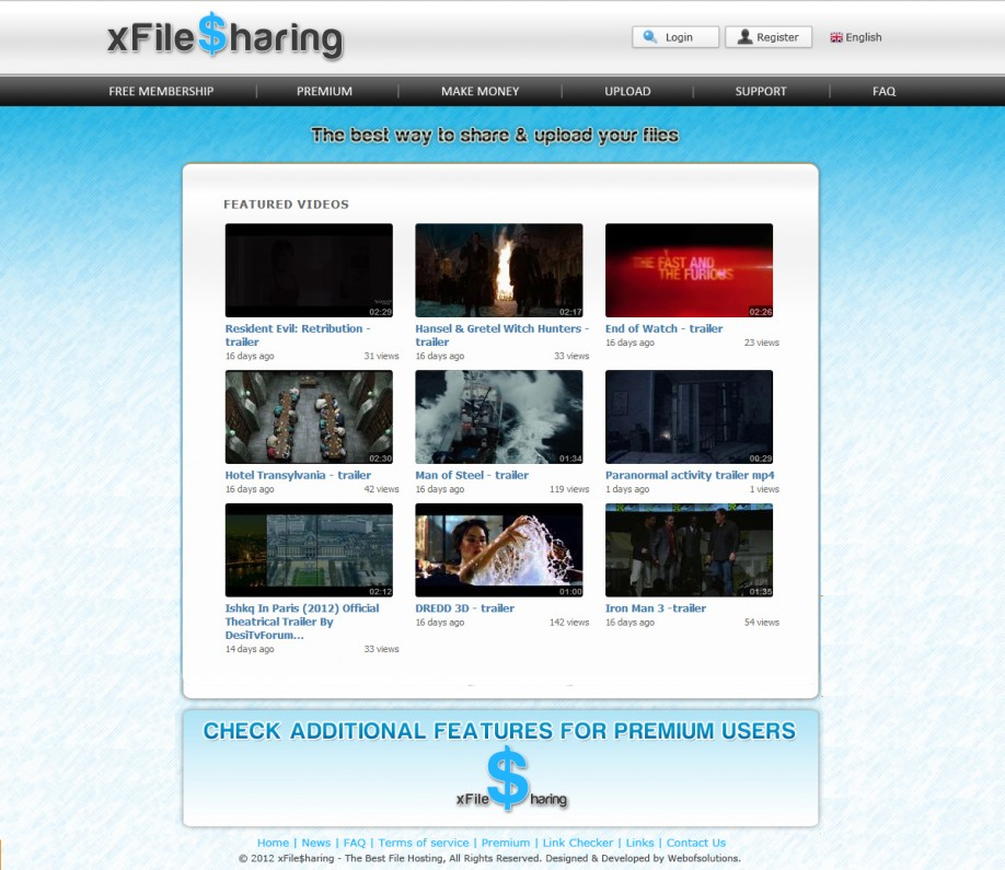 XvideoSharing  Black and Blue Template