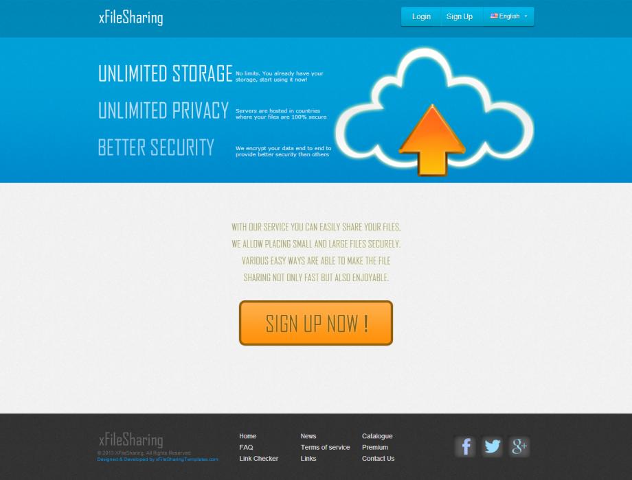 FileSharing Premium Template