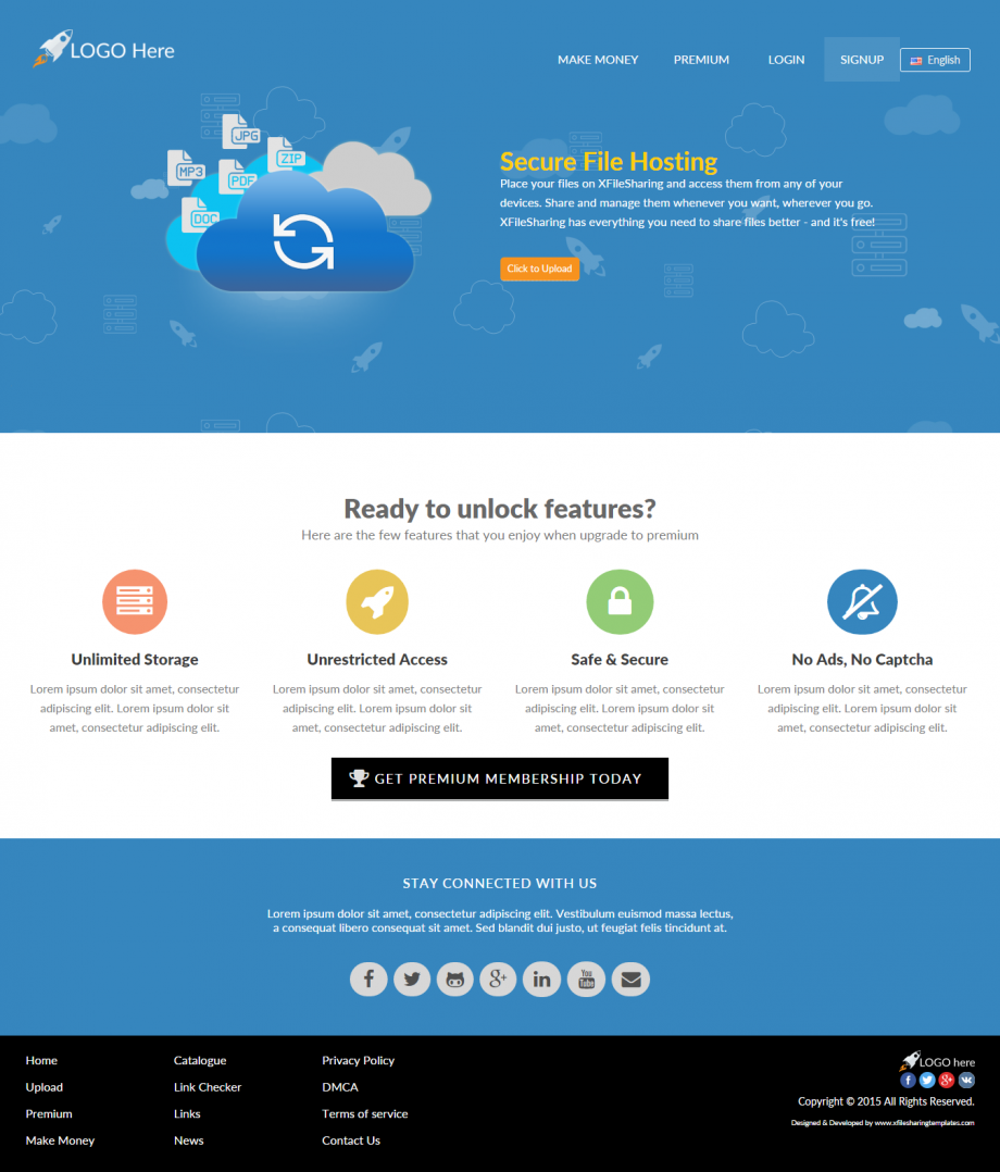 xFileSharing Awesome Responsive Theme