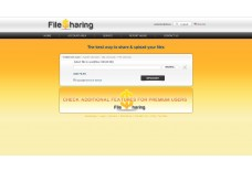 MEGA FILE HOSTING SCRIPT ORANGE TEMPLATE