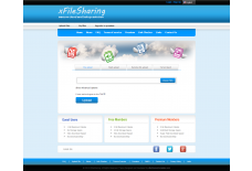 xFileSharing Pro MegaBlue Template