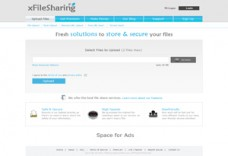 Xfilesharing pro unique and professional template