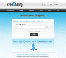 Xfilesharing Pro Blue Template